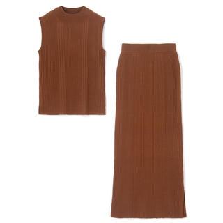 グレイル(GRL)のグレイル スカート セットアップ ブラウン GRL(セット/コーデ)