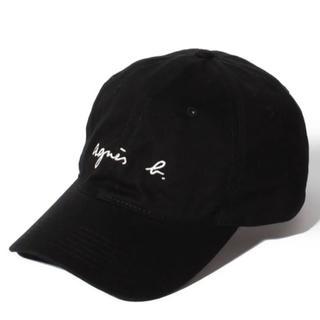 agnes b. - 【即購入大歓迎】アニエスベー 前面ロゴ キャップ 黒