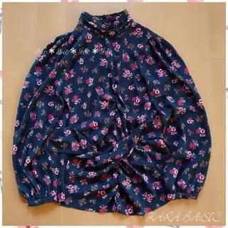 ザラ(ZARA)の《ZARA BASIC》花柄 フラワープリント ウエストリボン ブラウス S(シャツ/ブラウス(長袖/七分))