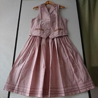 ピンクハウス(PINK HOUSE)の☆ピンクハウス☆ギンガムチェック/ベスト&スカート(ロングスカート)