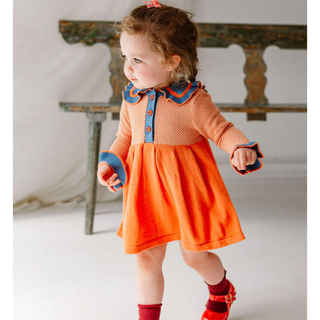 Caramel baby&child  - HAPPYOLOGY  Amberley Knitted Dress 4Y