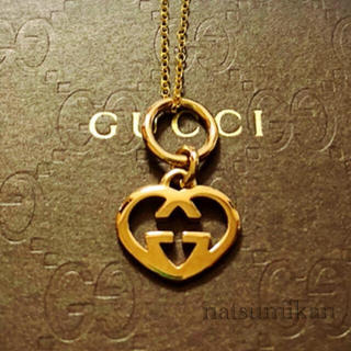 Gucci - GUCCI 正規品 ハートチャーム ネックレス
