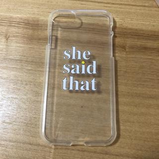 トゥデイフル(TODAYFUL)のshesaidthat iPhone8ケース(iPhoneケース)