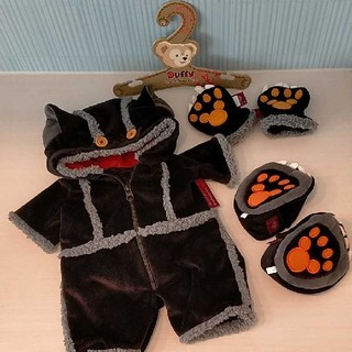 ダッフィー(ダッフィー)のダッフィー 公式コスチューム ハロウィン 黒猫 ディズニーシー Dハロ(キャラクターグッズ)