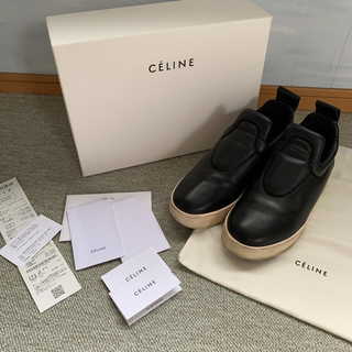celine - セリーヌCELINE スリッポン 37 ブラック