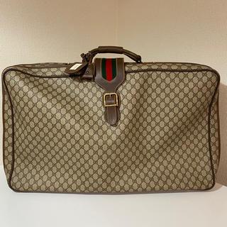 グッチ(Gucci)のGUCCI グッチ GG シェリーライン トラベルケース スーツケース(トラベルバッグ/スーツケース)