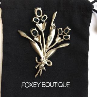 FOXEY - フォクシー ブローチ  フラワー 花束 ブルートパーズ