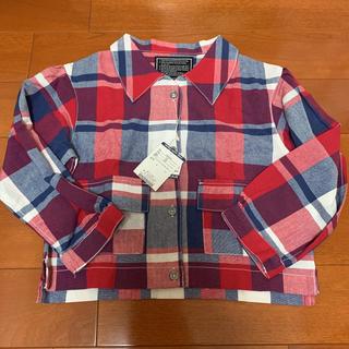 ブリーズ(BREEZE)の新品未使用☆タグ付き☆ブリーズ120チェックシャツ赤(ジャケット/上着)