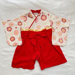 ベルメゾン(ベルメゾン)の袴ロンパース 女の子 70cm(ロンパース)