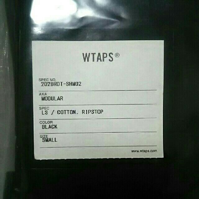 W)taps(ダブルタップス)のWTAPS 20AW MODULAR LS RIPSTOP BLACK S メンズのトップス(シャツ)の商品写真