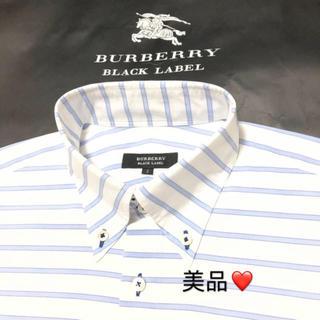 BURBERRY - ☆ 一回着用.超美品 バーバリーブラックレーベル 長袖シャツ2