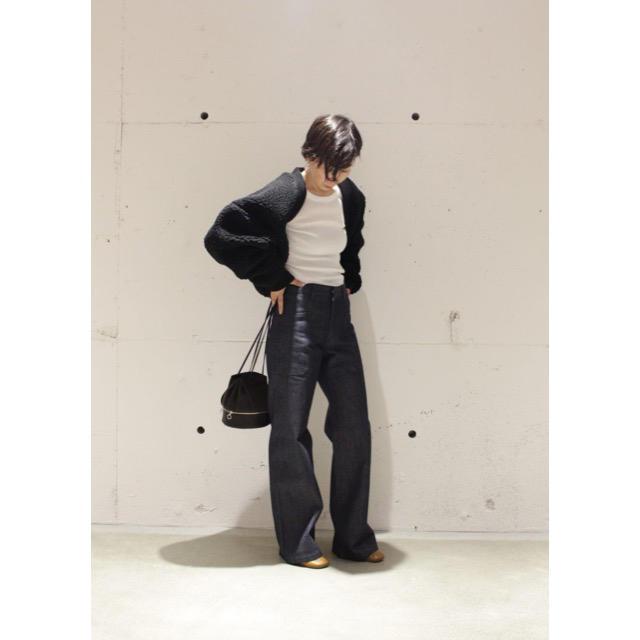 HYKE(ハイク)のHYKE ボア ボレロ ジャケット コート レディースのジャケット/アウター(ミリタリージャケット)の商品写真