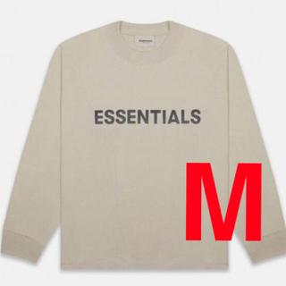 FEAR OF GOD - essentials ロングTシャツ Mサイズ TAN ベージュ