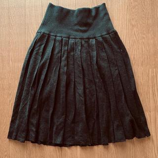 ミスティウーマン(mysty woman)の膝丈ニットプリーツスカート(ひざ丈スカート)