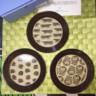 リサラーソン(Lisa Larson)の【新品未使用品特価!】リサ・ラーソンさんデザイン 益子焼皿(通販生活オリジナル)(食器)