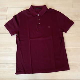 ルイヴィトン(LOUIS VUITTON)のヴィトン ルイヴィトン ポロシャツ ロゴ ワインレッド(ポロシャツ)