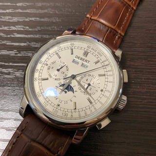 DEBERT 腕時計  自動巻き ムーンフェイズ   42mm  レザーベルト