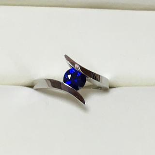 ジェムケリー gemcerey ロイヤルブルーサファイア k18WG リング指輪