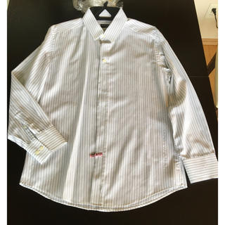 DOLCE&GABBANA - ドルチェ&ガッバーナ ドルガバ ワイシャツ メンズ 長袖ストライプ 41 超美品