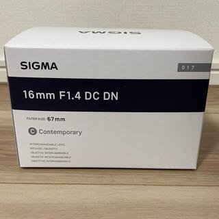 SIGMA - 新品 シグマ SIGMA 16mm F1.4 DC DN