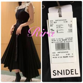 snidel - 完売色🌷新作新品🍀スナイデル プリーツスカートジャンパーワンピース