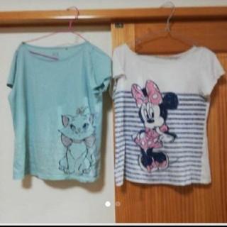 ユニクロ(UNIQLO)の⚠売り切れ!ユニクロディズニーTセット2枚セット(Tシャツ(半袖/袖なし))