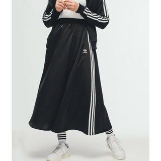 アディダス(adidas)のアディダス ロングサテンスカート M(ロングスカート)