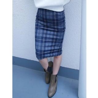 ジェイダ(GYDA)の【新品未使用】チェック柄 タイトスカート(ひざ丈スカート)