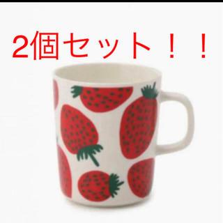 マリメッコ(marimekko)のマリメッコ marimekko マンシッカ マグカップ 2個セット(グラス/カップ)