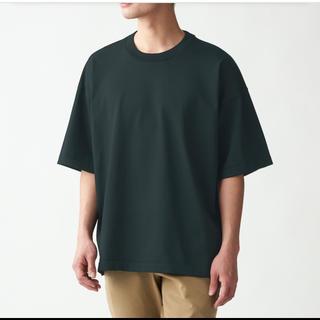 ムジルシリョウヒン(MUJI (無印良品))の無印   丈夫で洗えるニットTシャツ L~XL・黒(Tシャツ/カットソー(半袖/袖なし))