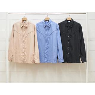 アンユーズド(UNUSED)のUNUSED アンユーズド ウエスタン シャツ ブルー  US1537 新品(シャツ)