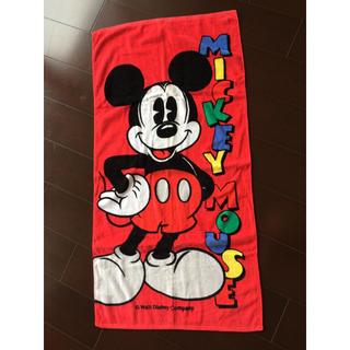 ミッキーマウス(ミッキーマウス)の新品 ミッキー バスタオル リード21 青色バスタオル 2枚セット(タオル/バス用品)