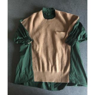 sacai - サカイ ニットシャツ1サイズ