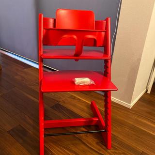 Stokke - ストッケ トリップトラップ  椅子 レッド  背もたれ