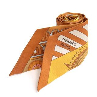 Hermes - HERMES ツイリー シルクスカーフ シルク ブラウン系 幾何学 A2981