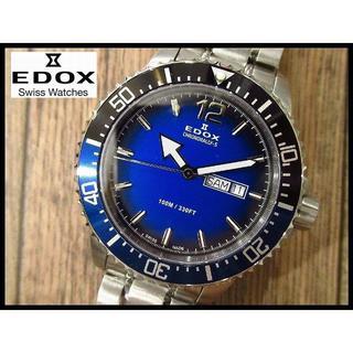 EDOX - 新品 EDOX エドックス クロノラリーS 84300 青文字盤デイデイト腕時計