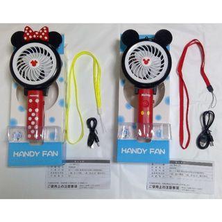 ディズニー(Disney)のディズニー フラッシュハンドDE扇風機/ハンディファン ミッキー & ミニー(扇風機)