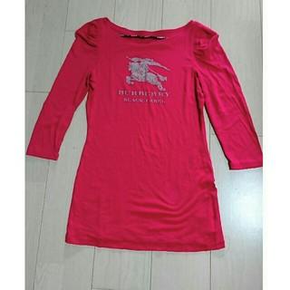 バーバリーブラックレーベル(BURBERRY BLACK LABEL)の★★バーバリー ブラックレーベル ロンT サイズ38 ピンク(Tシャツ/カットソー(七分/長袖))