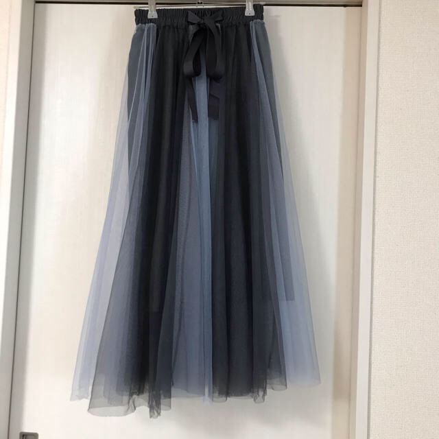 GRL(グレイル)のチュールスカート プリーツスカート ロングスカート レディースのスカート(ロングスカート)の商品写真