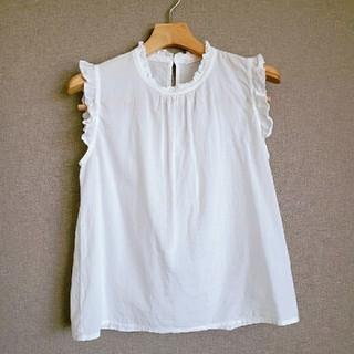サマンサモスモス(SM2)の白ブラウス(シャツ/ブラウス(半袖/袖なし))
