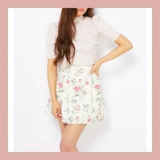 ダズリン(dazzlin)のタグなし新品♡dazzlin ダズリン チューリップ柄ボンディングスカート(ミニスカート)