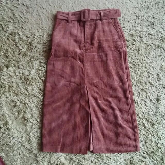 ZARA(ザラ)のZARAコーデュロイスカート レディースのスカート(ひざ丈スカート)の商品写真