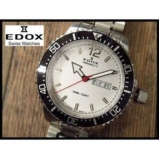 エドックス(EDOX)の新品 EDOX エドックス クロノラリーS 84300 白文字盤デイデイト腕時計(腕時計(アナログ))
