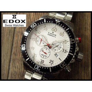 EDOX - 新品 EDOX エドックス クロノラリーS 10227 白文字盤 デイト 腕時計