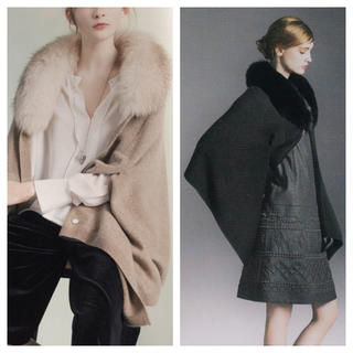 FOXEY - フォクシー Cashmere Cape Stole  フォックスファー ストール