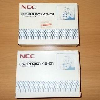 エヌイーシー(NEC)のNEC インクリボンカートリッジ 黒 PC-PR201/45-01 2個(PC周辺機器)