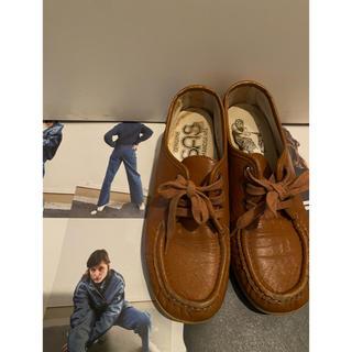 ロキエ(Lochie)のLA購入 vintage shoes👞 22.5(ローファー/革靴)