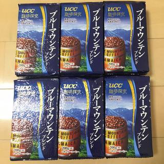 ユーシーシー(UCC)の送料込み UCC ブルーマウンテンブレンド 粉タイプ 6袋(コーヒー)