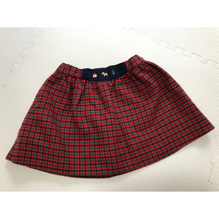 familiar - ファミリア スカート 赤チェック