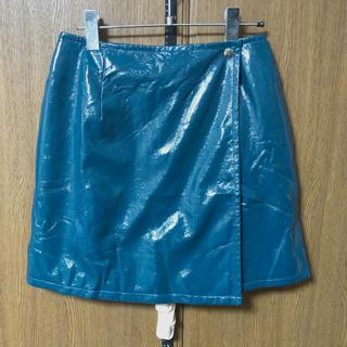 スライ(SLY)のフェイクレザー ラップスカート(ミニスカート)